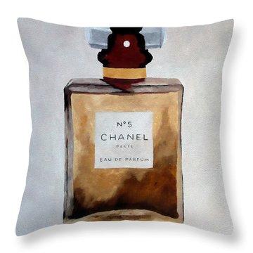 Parfum No.5 Throw Pillow