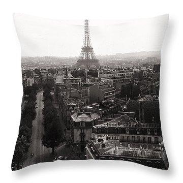 Paris 1966 Throw Pillow