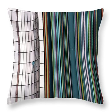 Paris Abstract Throw Pillow by Steven Richman