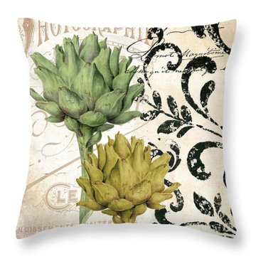 Paris Artichokes Throw Pillow by Mindy Sommers