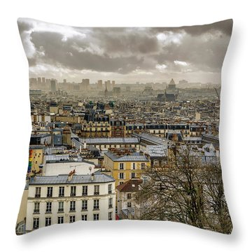 Paris As Seen From The Sacre-coeur Throw Pillow