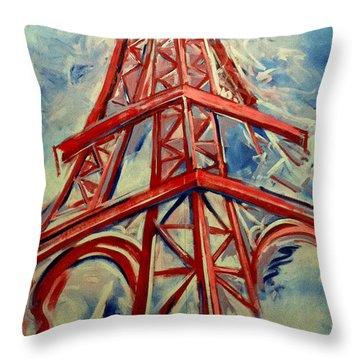 Paris Backdrop Throw Pillow