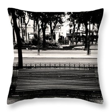 Paris Bench Throw Pillow