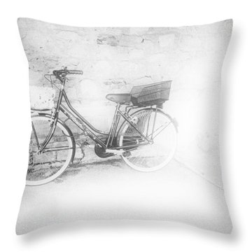 Paris Bicycle Throw Pillow