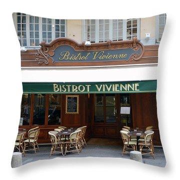 Paris Bistrot Vivienne Galerie Vivienne - Parisian Cafes Bistros Throw Pillow