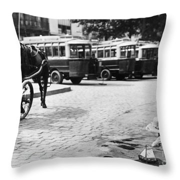 Paris: Boulevard De Clichy Throw Pillow by Granger