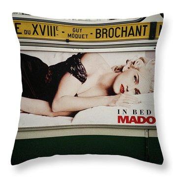 Paris Bus Throw Pillow