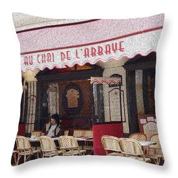 Paris Cafe 1 Throw Pillow