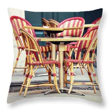 Paris Cafe - Paris, France Throw Pillow by Melanie Alexandra Price