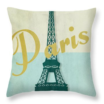 Paris City Of Light Throw Pillow by Mindy Sommers
