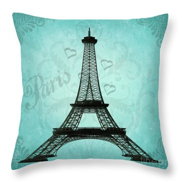 Paris Collage Throw Pillow by Jim And Emily Bush