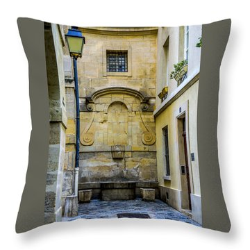 Paris Corner Le Marais Throw Pillow