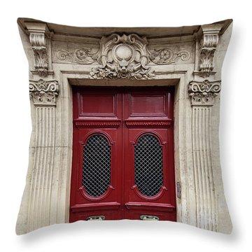Paris Doors No. 17 - Paris, France Throw Pillow