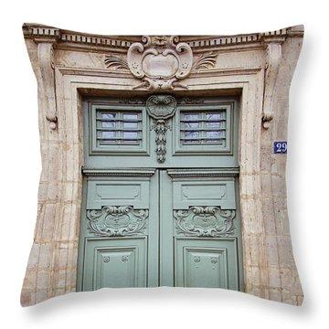 Paris Doors No. 29 - Paris, France Throw Pillow