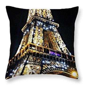 Paris - Eiffel Tower Throw Pillow