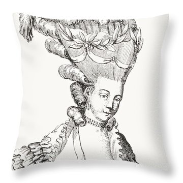 Paris Fashion, 1776 Throw Pillow