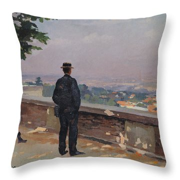 Paris From The Observatory At Meudon Throw Pillow by Jules Ernest Renoux