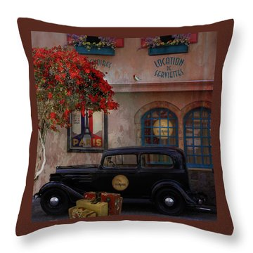 Throw Pillow featuring the digital art Paris In Spring by Jeff Burgess