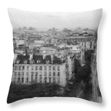 Paris In The Rain  Throw Pillow
