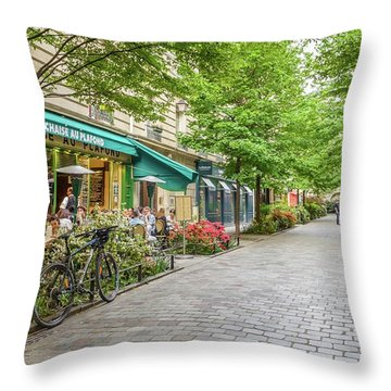 Paris In The Spring  Throw Pillow