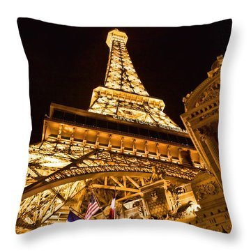 Paris In Vegas Throw Pillow