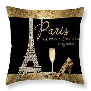 Paris Is Always A Good Idea - Audrey Hepburn Throw Pillow