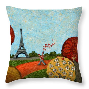 Paris Je T Aime Throw Pillow