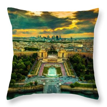 Paris Landscape Throw Pillow by Vincent Monozlay