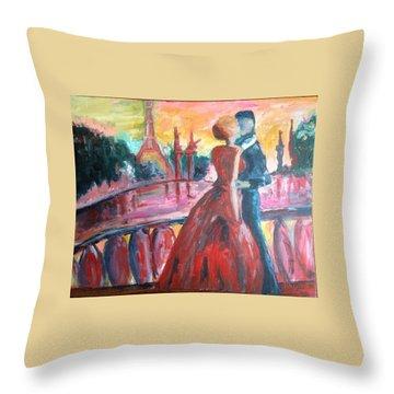 Paris Lovers Throw Pillow