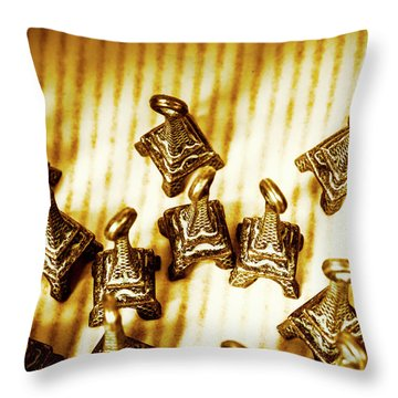 Paris Market Pendants Throw Pillow