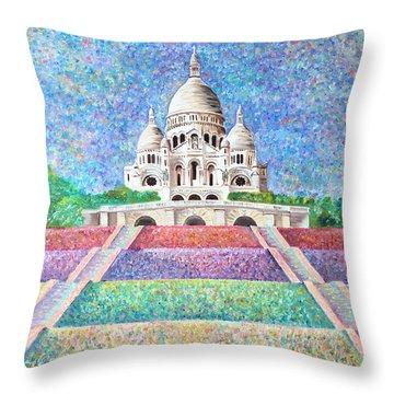 Paris Monument Throw Pillow
