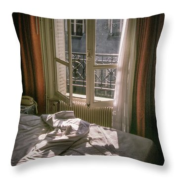 Paris Morning Throw Pillow