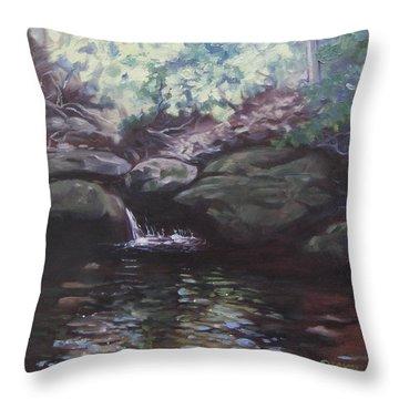 Paris Mountain Waterfall Throw Pillow