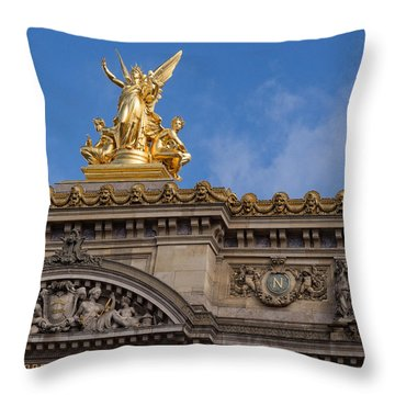 Paris Opera - Harmony Throw Pillow