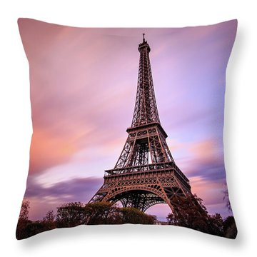 Paris Pastels Throw Pillow