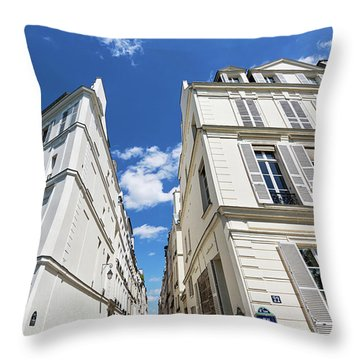 Throw Pillow featuring the photograph Paris Photography - Quai D-orleans by Melanie Alexandra Price