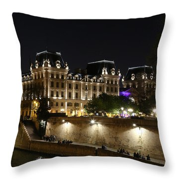 Throw Pillow featuring the photograph Paris Police Headquarters by Andrew Fare
