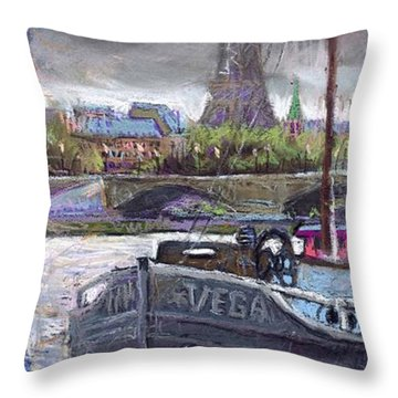Paris Pont Alexandre IIi Throw Pillow by Yuriy  Shevchuk