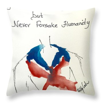 Throw Pillow featuring the painting Paris, Pour Toi by Trilby Cole
