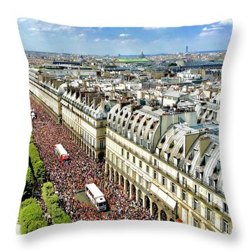 Paris Pride March 2018 Throw Pillow