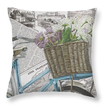 Paris Ride 1 Throw Pillow