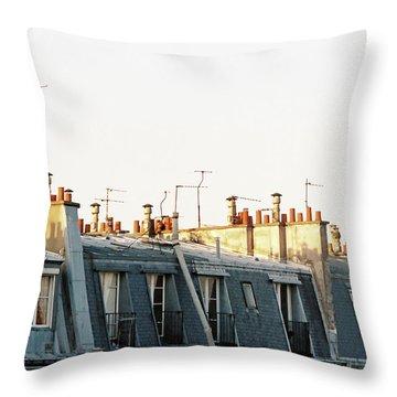 Paris Rooftops Throw Pillow