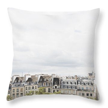 Paris Rooftops View From Centre Pompidou Throw Pillow
