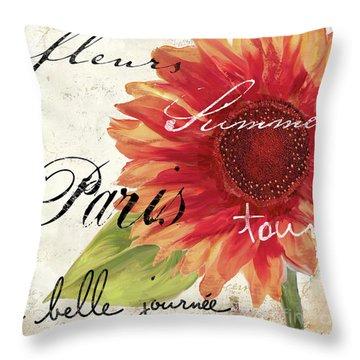 Paris Songs II Throw Pillow