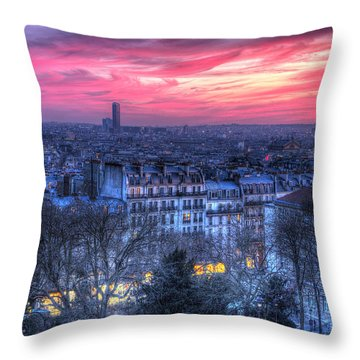 Paris Sunset Throw Pillow by Shawn Everhart