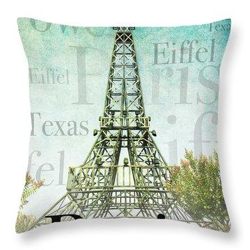 Paris Texas Style Throw Pillow