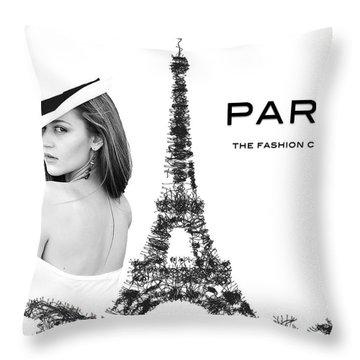 Paris The Fashion Capital Throw Pillow