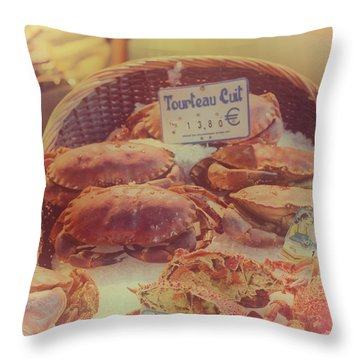 Paris Tourteau Cuit Throw Pillow