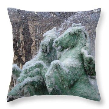 Paris Winter Throw Pillow