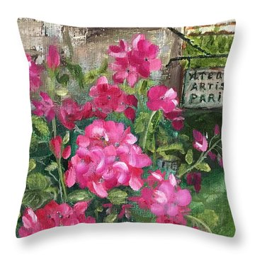 Paris, Wisconsin Throw Pillow